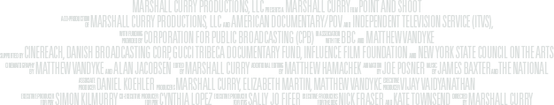 Point and Shoot documentary film credits block